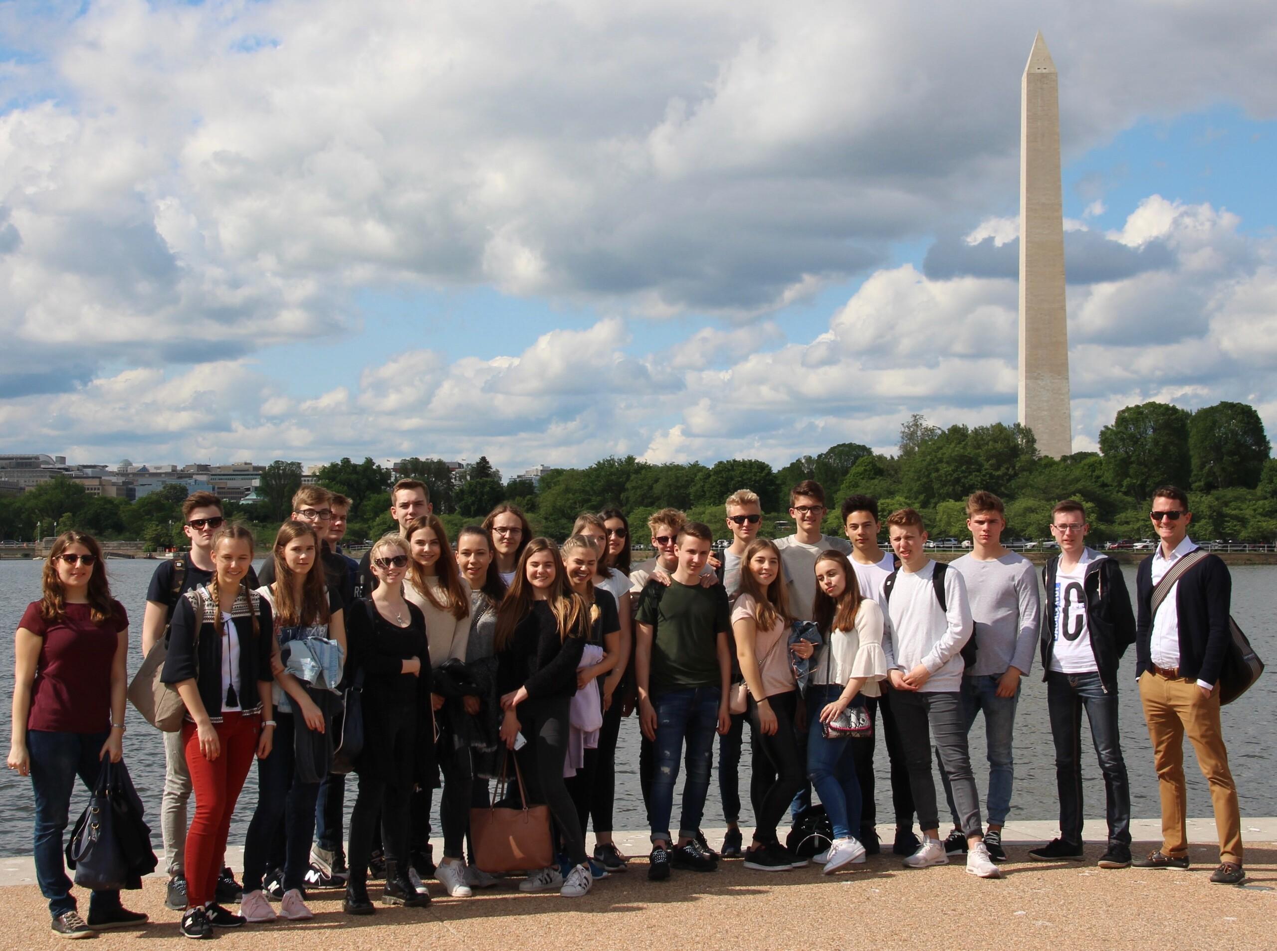 Die MUN-Teilnehmer in Washington D.C.